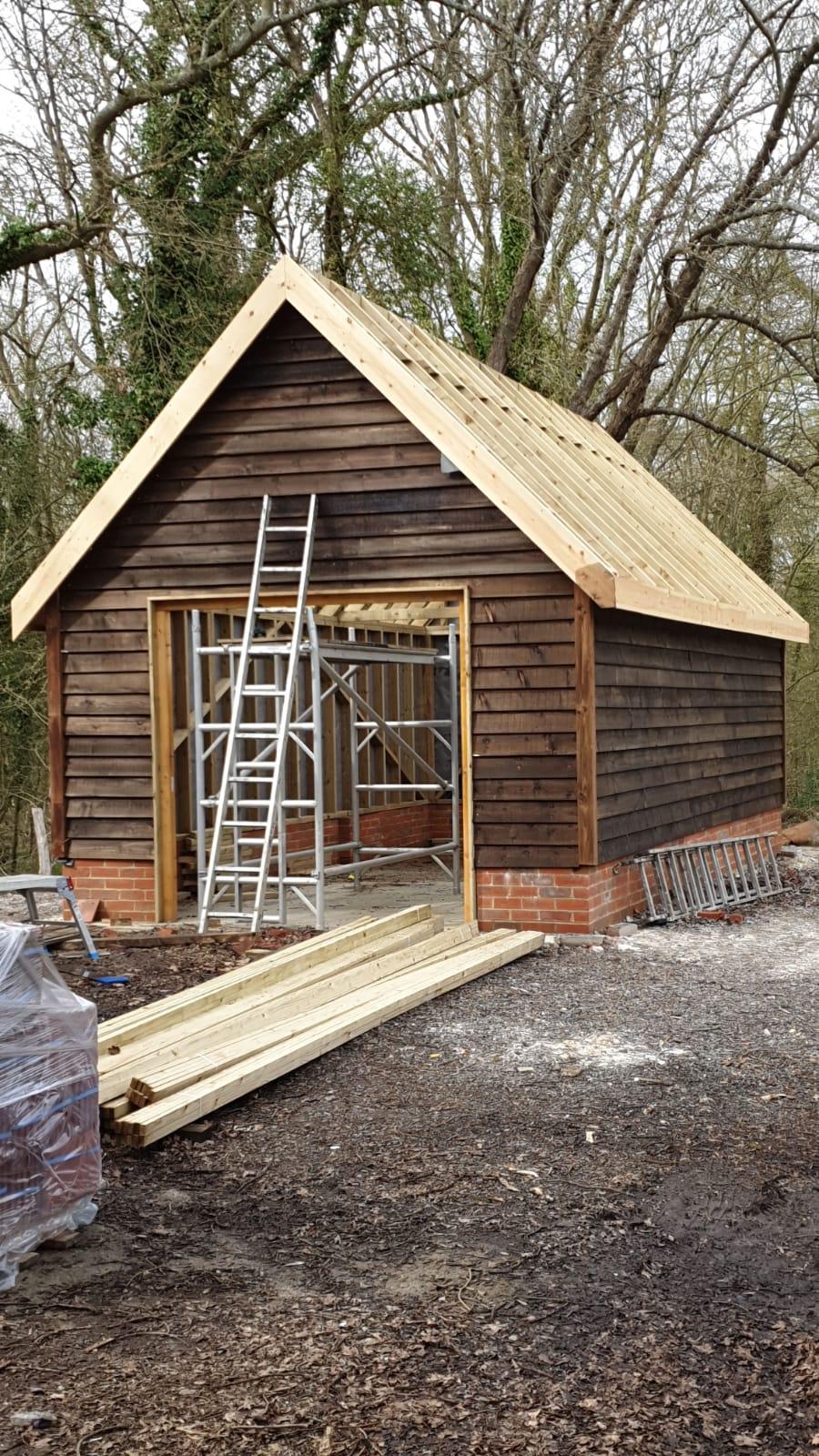 Free standing garage built in Surrey.